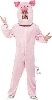 Smiffy's Men's Pig Costume Bodysuit and Hood