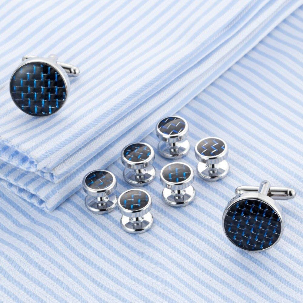 Zozu Cufflinks Collar Stud Cuff links Luxury 8pcs set cuffs French Shirt Tuxedo Men Jewelry Drop ship 529