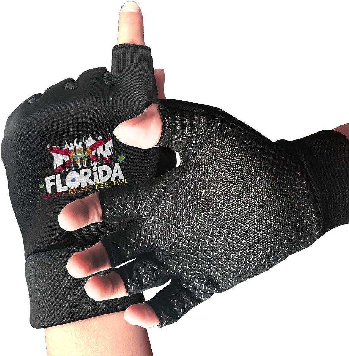 Gloves Florida Music Festival Fingerless Gloves Short Touchscreen Gloves Winter Motorcycle Biker Mitten