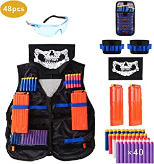 Locisne Kids Jungle Camouflage Tactical Vest Jacket Kit para