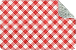 Doormat Custom Indoor Welcome Door Mat, Red Gingham Square Pattern Home Decorative Entry Rug Garden/Kitchen/Bedroom Mat No...