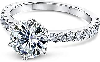 6-Prong 1.9ct Moissanite (FG/VS) Ring (Multiple Gold Options)