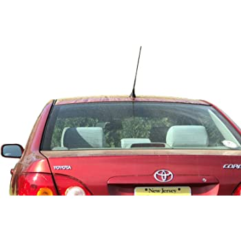 - Short Rubber Antenna German Engineered Internal Copper Coil Premium Reception 2003-2010 The Original 6 3//4 Inch is Compatible with Pontiac Vibe AntennaMastsRus
