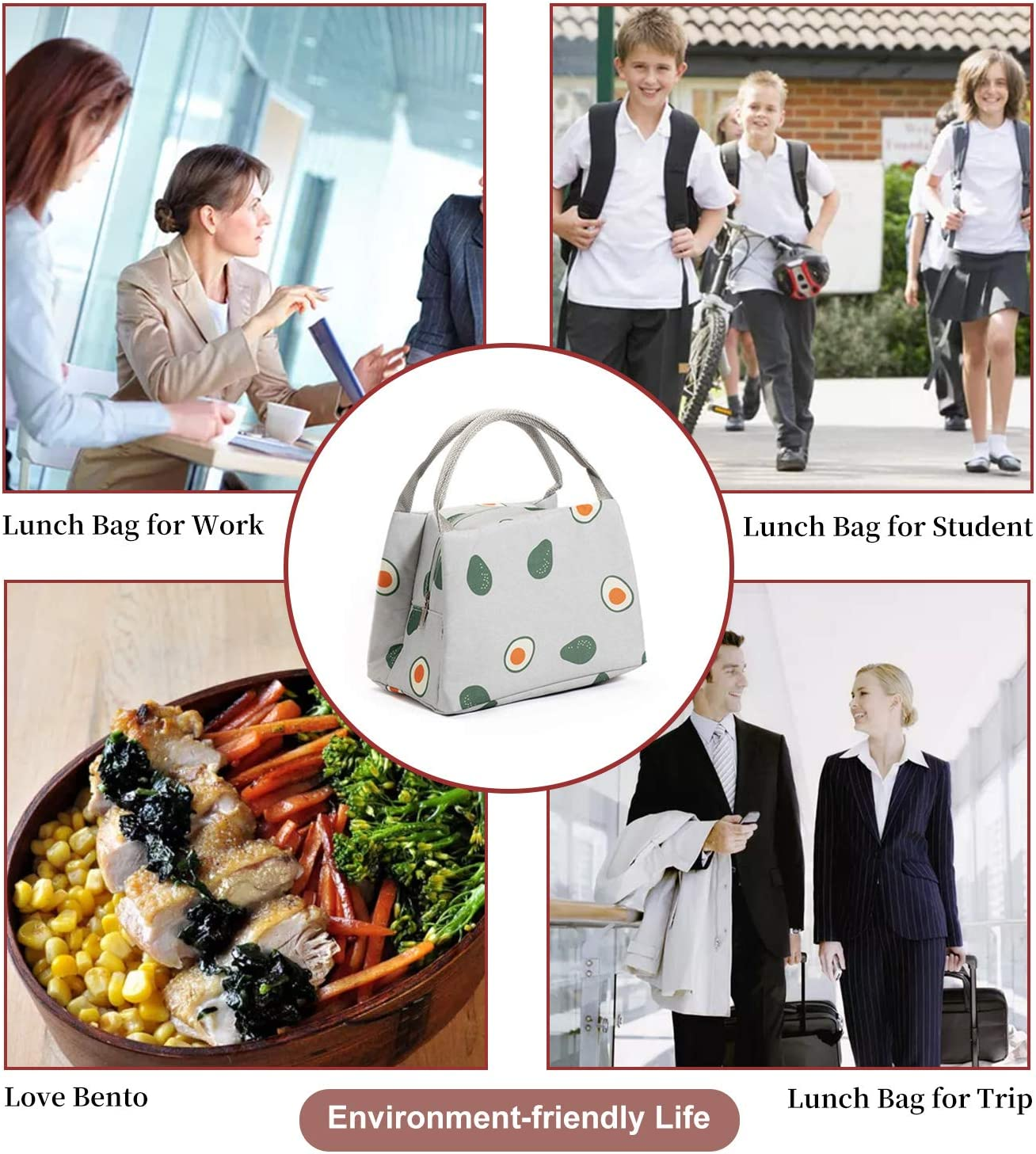 Lunch Bag-Lunch Box with Soft Liner Lunch Bags for Women Simple Modern Durable Insulated Lunch Bag for Men Fruit Pattern Lunch Bag for Girls Waterproof Reusable Lunch Box Tomato