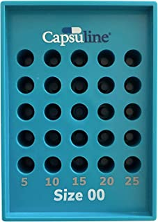 Size 00 Capsule Holding Tray by Capsuline - 25 Count