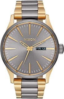 Sentry SS A379 - Gunmetal/Gold - 123M Water Resistant Men's Analog Classic Watch (42mm Watch Face, 23mm-20mm Stainless Steel Band)