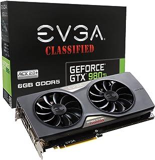 EVGA 06G-P4-4998-KR Juegos Clasificados ACX GTX 980 Ti gráfica NVIDIA 6 GB (3X PCI-e GDDR5 DP 1.2, 1x DVI-I DL, 1x HDMI 2.0 1 GPU)