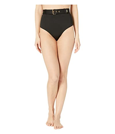 Moschino Buckle Clasp High-Waisted Bottoms (Black) Women