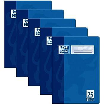 Oxford OpenFlex Notizb/ücher 90 g Umschlag aus Polypropylen kariert verschiedene Farben 96 Seiten 24 x 32 cm 3 St/ück gro/ße Karos