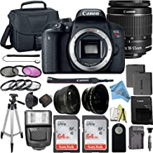 $799 » Canon EOS Rebel T7i DSLR Camera Bundle with Canon EF-S 18-55mm f/3.5-5.6 is STM Lens + 2pc 64GB SanDisk Memory Cards + Accessory Kit (18-55mm + 64gb)