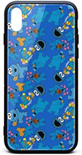 Compatible iPhone 7/8 Case Cookie-Monster-Me-Want-Om-Nom-Muppet-Children's-TV-Blue- Tempered Glass Shock Absorbent Scratch-Resistant Slim TPU Protective Case for iPhone 7/8 4.7Inch