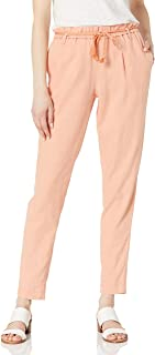 Jessica Simpson Women's High Rise Tie String Belt Taper Beach Pant