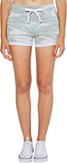 esstive Women's Midweight Basic French Terry Camouflage Casual Comfortable Short