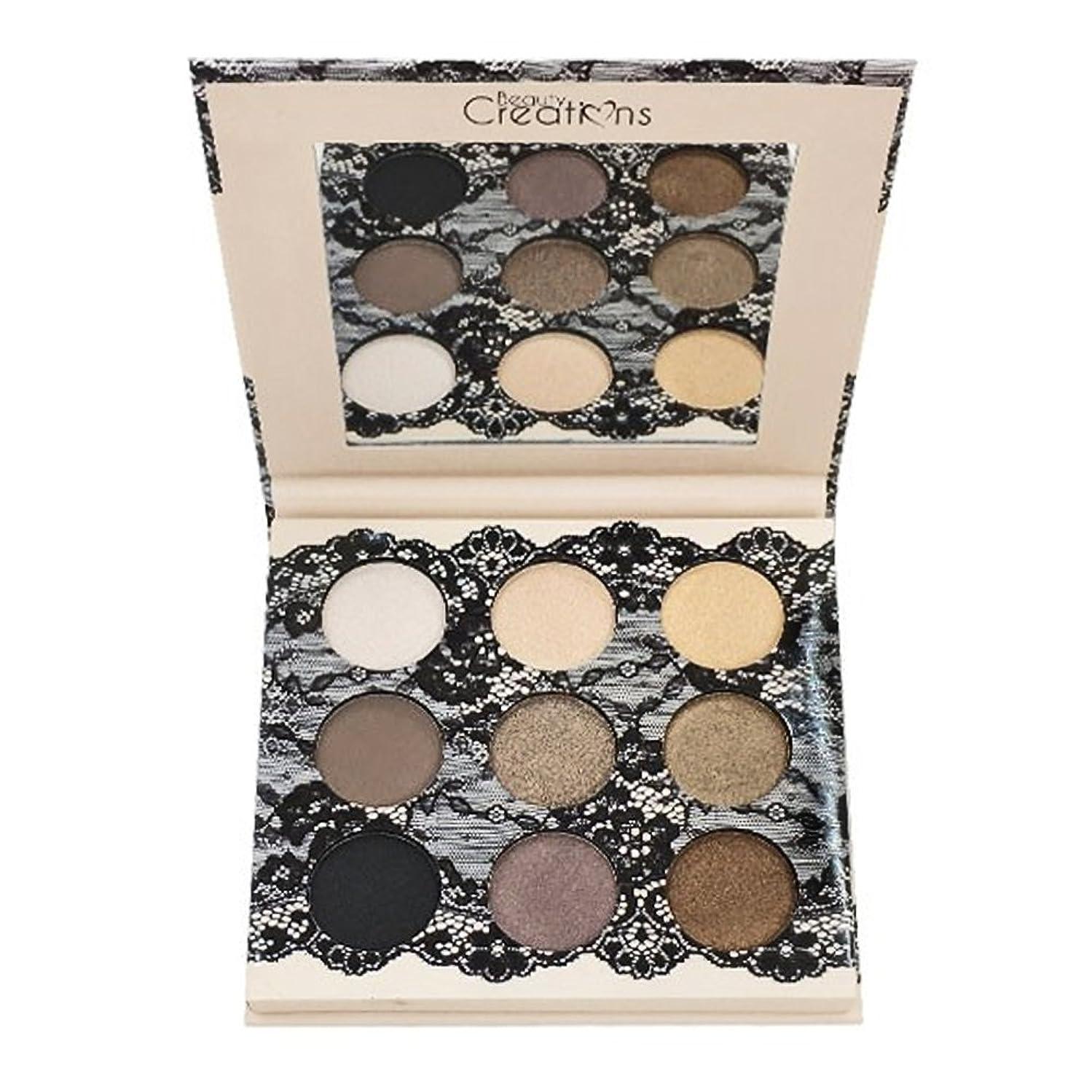 靄ビバマント(3 Pack) BEAUTY CREATIONS Boudoir Shadows 9 Shades Eyeshadow Palette - B (並行輸入品)