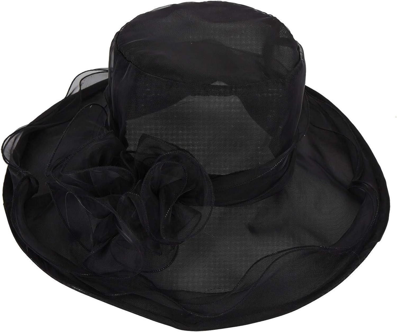 Kentucky Derby Tea Party Navy Blue Black Fascinator Hat Dress Hats Church Cap