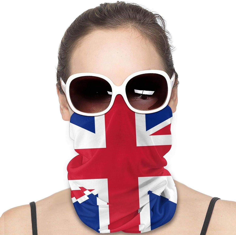 UK British Flag Neck Gaiter Windproof Face Cover Balaclava Outdoors Magic Scarf Headband for Men Women Motorcycling Fishing Running Climbing