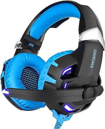 FengHeHaiLang Cuffie da Gioco, Cuffie Over Ear con Microfono 7.1 Cuffie da Gioco con Controllo del Volume a cancellazione di Rumore Surround - per PS4 PC Xbox One,Blue - Trova i prezzi più bassi