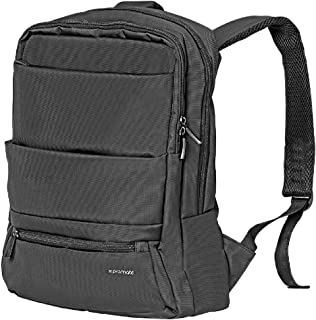 Promate Business Backpack, High-Capacity Urban Dual-Pocket Laptop Bag with Anti-Theft Pocket, Organizer Pocket and Water-Resistant Backpack for Unisex, 15.6 Inch Laptop, Travel, Apollo-BP Black