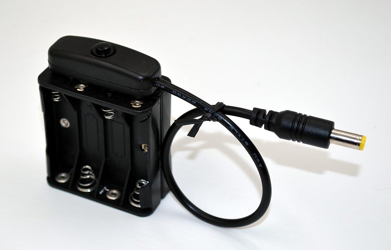 お誕生日義務付けられた才能単四電池 DC12V DCプラグオス仕様 スイッチ付き電池ボックス 電池式バッテリーケース スナップ式 AAA (4X4)  Battery Holder Box (別売 単4アルカリ電池×8本用 DC12V出力)