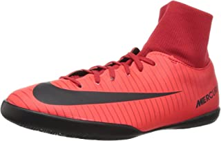 Youth Mercurial Victory VI DF IC Indoor Soccer Shoes (University RED/Black/Bright Crimson) (3, Red)