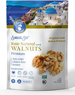 AZNUT Walnuts Halves and Pieces, Compares to Organic Walnuts, Extra Light Color Premium Quality, 90% Halves, Wild Harvest, 100% Natural NON GMO Project Certified, Kosher Certified, Resealable Bag 2 Set of 1LB (2 LB)