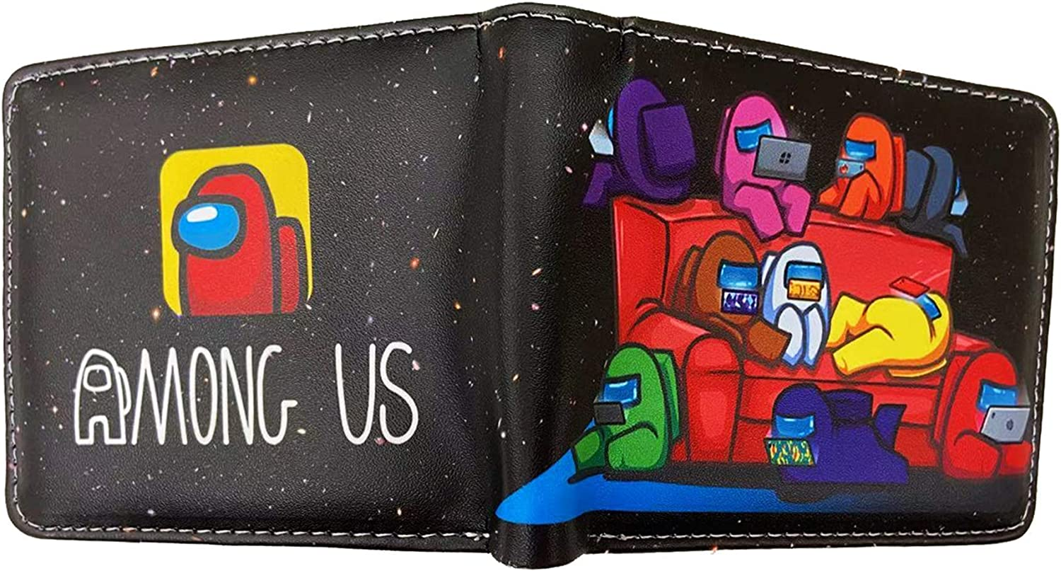 Kids Boys Bi-Fold Wallet With Coin Purse For Video Game Fans For Christmas Xmas Gift
