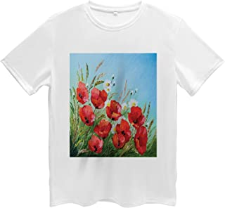 Flower Men's T Shirt, Traditional Greek Houses, Short Sleeve Tee, XL