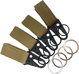 Bytiyar 4 pcs Tactical Key Ring Belt Holder Nylon Clips with 1