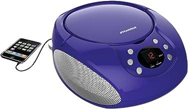 Sylvania Portable CD Boombox with AM/FM Radio (Purple)