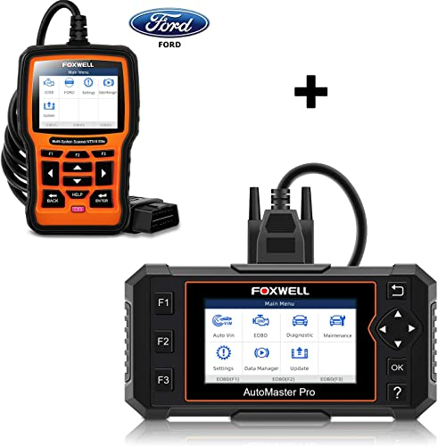 FOXWELL NT614 Elite OBD2 Scanner and NT510 Elite Bidirectional Scan Tool for Ford Lincoln Mercury
