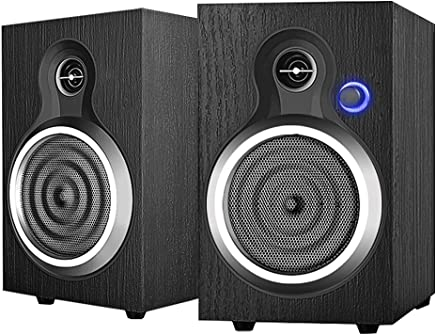 INSMART Computer Speakers Wooden, 2.0 Stereo Volume Control 10W USB Powered Speakers for PC/Laptops/Desktops/Phone/Ipad/PS4/Xbox One/Nintendo Switch