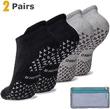 Hylaea Unisex Non Slip Grip Socks for Yoga, Hospital, Pilates, Barre   Ankle, Cushioned