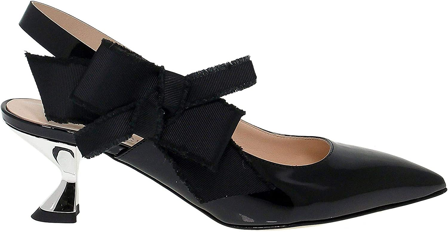 GUIDO SGARIGLIA Women's SGA1321 Black Leather Sandals