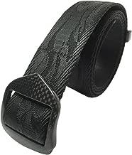 NEW Carbon Fiber Metal Free Black Belt Security Friendly Durable Rip Resistant