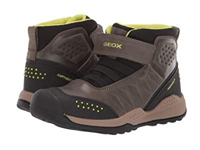 Geox Kids Jr Teram Babx 1 (Little Kid/Big Kid) (Milty/Yellow) Boys Shoes