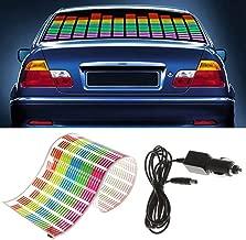 WONFAST® Sound Music Beat Activated Car Sticker Equalizer Rhythm LED Flash Light Audio Voice Rhythm Lamp (90x25cm)