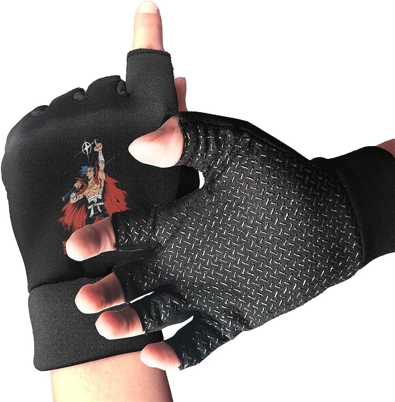 Tengen Toppa Gurren Lagann Kamina Knitted Mittens Gloves Stretchy Warmer Fingerless Non Slip Gloves For Unisex