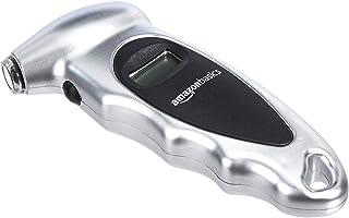 AmazonBasics Digital Tire Pressure Gauge - Silver, 3-Pack