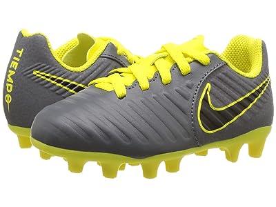 Nike Kids Jr. Legend 7 Club MG Soccer (Toddler/Little Kid/Big Kid) (Dark Grey/Opti Yellow/Black) Kids Shoes