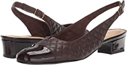Dark Brown Soft Quilted Leather/Patent