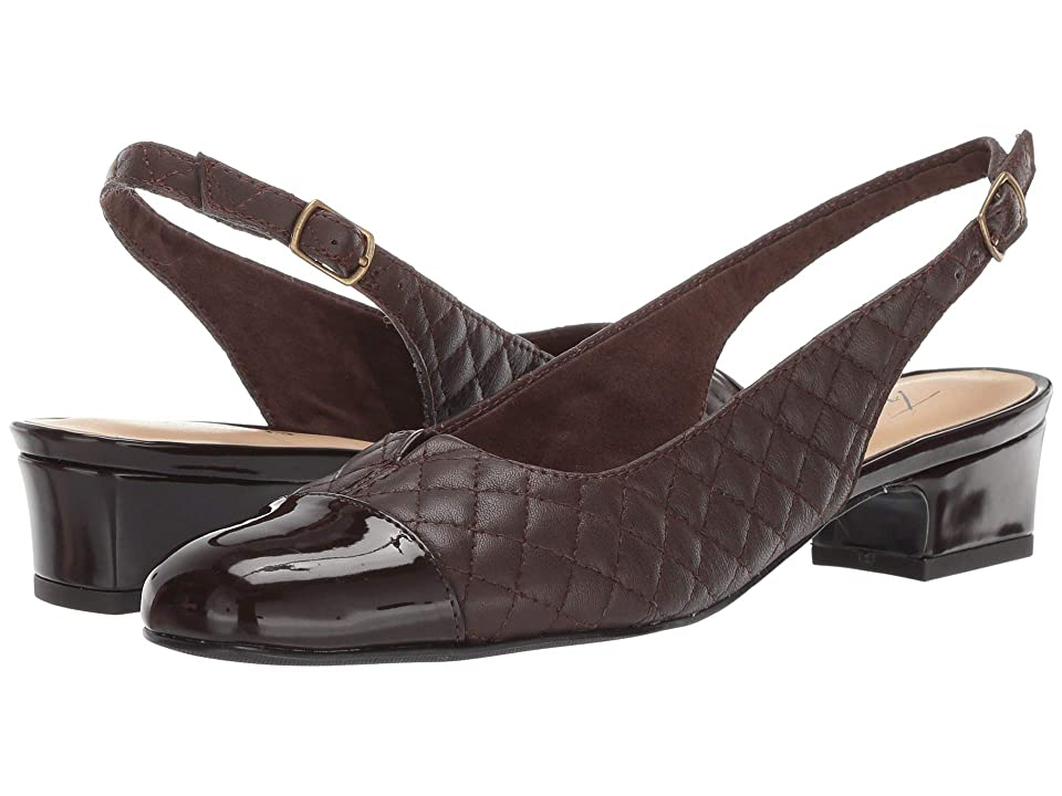 Trotters Dea (Dark Brown Soft Quilted Leather/Patent) Women