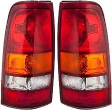 1999-2002 Chevy/Chevrolet Silverado & 1999-2003 GMC Sierra 1500 2500 & 2002-2003 Sierra 3500 Full Size Pickup Truck Fleetside/Wideside Taillight Taillamp Lens & Housing Rear Brake Tail Light Lamp Set Pair Right Passenger AND Left Driver Side (1999 99 2000 00 2001 01 2002 02 2003 03)