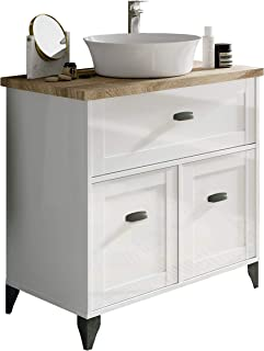 Pitarch Mueble baño Vintage Cottage Color Blanco y Cambrian