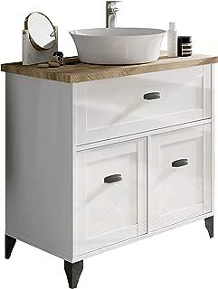 Pitarch Mueble baño Vintage Cottage Color Blanco y Cambrian