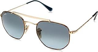 RB3648 The Marshal Square Sunglasses, Havana/Blue Gradient, 51 mm