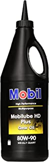 Mobilube HD Plus 80w90, Gear Oil, 1 qt.