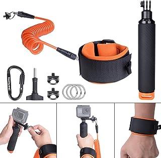 Accesorios de Buceo para GoPro contenedor Bobber Floating Hand Grip cámara Grip Mount con correa de muñeca de buceo kit de buceo para GoPro Hero 7/6/5/4/3+/3/Sesión Sony cámara de acción etc.