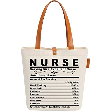 Cute /& Stylish Choose from 5 colors Nurse Tote with pocket FREE SHIPPING Oklahoma Nurse Large Tote Bag Beach Tote Canvas Tote
