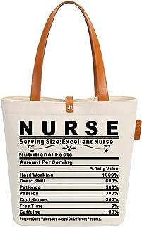 حقيبة حمل قماشية للشاطئ هدية ممتازة ممرضة جرافيك حقيبة يد كتف