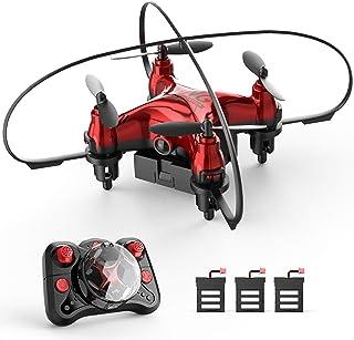 Holyton ドローン こども ミニドローン 最大飛行時間24分 子供向け 超安定 超頑丈 小型 バッテリー3個付き 高度維持機能 室内 200g未満 初心者 2.4GHz ヘッドレスモード ワンキーリターン 3段階スピード切り替え 国内認証...